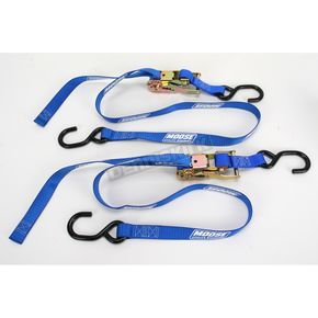 Moose Blue 1 in. Heavy-Duty Ratcheting Tie-Downs - 3920-0299
