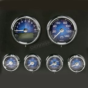 Medallion Classic Blue Medallion Premium Bagger Gauge Kit - 8960-00121-01