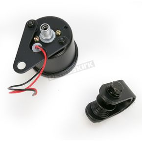 Drag Specialties 1:1 Ratio Black Faced Mini Mechanical Speedometers With Black Housing - 2210-0255