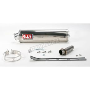 Yoshimura RS-3 Oval Race Bolt-On Muffler with Polished Stainless Steel Muffler Sleeve - ZX649SO