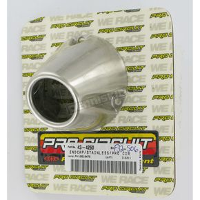 Pro Circuit Stainless End Cap for 3.5 in. Canister - PC4032-0001