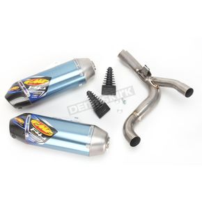 FMF Factory 4.1 RCT Blue Anodized Titanium Slip-On Muffler w/Carbon Fiber End Cap - 041498