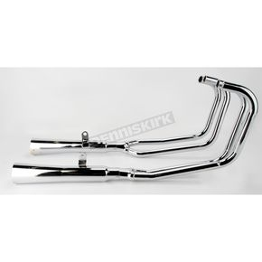 Mac 4-into-2 Chrome Megaphone Exhaust System - 001-1509