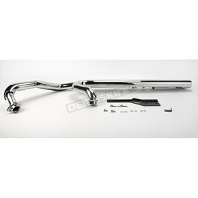 Hard Krome 2 1/2 in. American Classic Straights with Hard-Tips Exhaust System - 384080