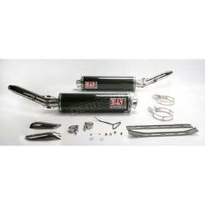 Yoshimura RS-3 Oval Race Slip-On Muffler with Glossy Carbon Fiber Muffler Sleeve - 1121252