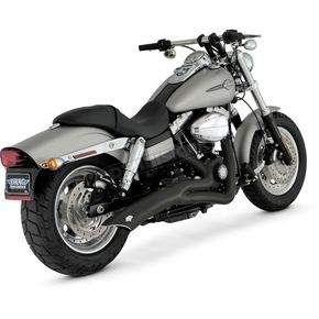 Vance & Hines Black Big Radius 2-into-1 Exhaust System - 48003