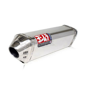 Yoshimura TRC Tri-Oval Slip-On Muffler with Polished Stainless Steel Muffler Sleeve - 1155275