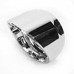Performance Machine Chrome Slash Elite Exhaust End Cap For Vance & Hines 4 in. Monster Rounds Mufflers - 02042021SLACH