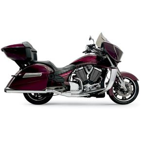 Bassani Chrome Road Rage 2-into-1 System With B1-Style Quick-Change End Cap - 6C18R