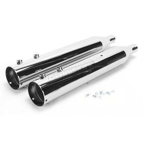 Rush Racing Products 4 in. Big Louie Tip Compatible Slip-On Mufflers w/2-1/4 in. Baffle - 32005-225