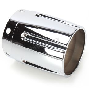 Rush Racing Products 3 in. Tapered w/Grooves Exhaust Tip - 3017