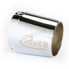 Rush Racing Products 3 1/2 in. Left Tapered Logo Performance Exhaust Tip - 3522-R1L