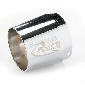Rush Racing Products 4 in. Right Tapered Logo Performance Exhaust Tip - 4022-R1R