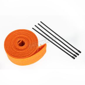 Orange Exhaust Pipe Wrap w/Black Tie Straps - CPP/9062B
