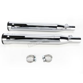 Cobra Chrome 3 in. Slip-On Mufflers w/Black Racepro Tips - 6054