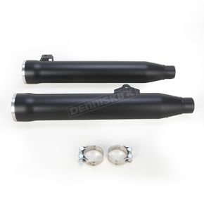 Cobra Black 3 in. Slip-On Mufflers w/Clear-Coated Machined Aluminum Racepro Tips - 6056B