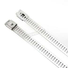 Cycle Performance Silver 14in. Ladder Style Stainless Steel Tie Wraps - CPP/9077