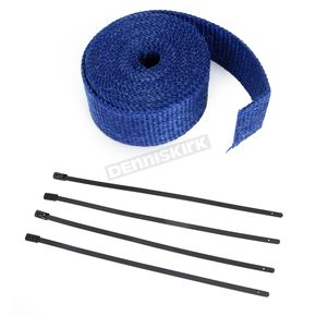 Blue 2in. x 25ft. Exhaust Pipe Wrap W/ Black Tie Wraps - CPP/9066B