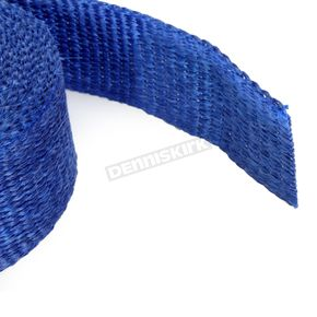 Cycle Performance Blue 2in. x 25ft. Exhaust Pipe Wrap W/ Black Tie Wraps - CPP/9066B