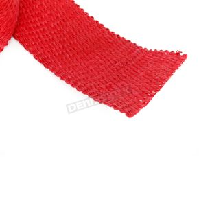 Cycle Performance Red 2in. x 25ft. Exhaust Pipe Wrap W/ Silver Tie Wraps - CPP/9068
