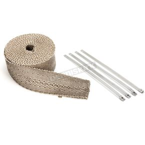 Natural/Metallic 2 in. X 25 ft. Exhaust Pipe Wrap W/ Silver Tie Wraps - CPP/9065SL