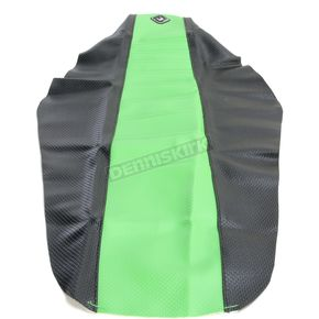 FLU Designs Black/Green Team Issue 3-Panel Grip Seat Cover - 25311