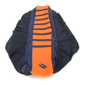 FLU Designs Dark Blue/Orange Pro Rib Kevlar Seat Cover - 55504