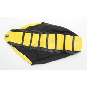 FLU Designs Black/Yellow/Black Pro Rib Kevlar Seat Cover - 45504