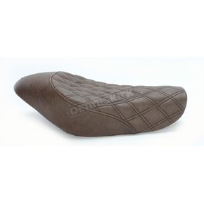 Saddlemen Brown Renegade Lattice-Stitch Solo Seat - 807-03-002BLS