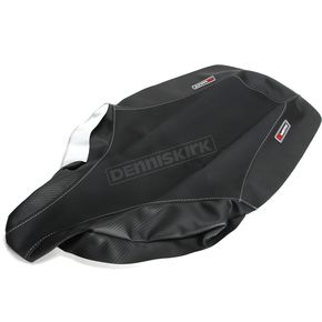 HT Moto ATV Black Carbon Fiber Seat Cover - ATV-Y02-BLK