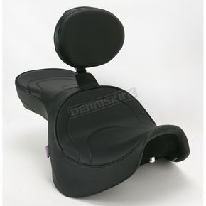 Parts Unlimited Mild Stitch Low-Profile Double-Bucket Seat with Backrest - 0810-0927