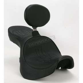 Parts Unlimited Flame Stitch Low-Profile Double-Bucket Seat with Backrest - 0810-0929
