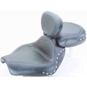Mustang One-Piece Studded Sport Touring Seat w/Driver Backrest - 79290