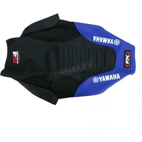 Factory Effex Black/Blue TC4 Gripper Seat Cover w/o Bump - 12-27232
