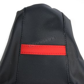 Moose Black/Red Ribbed Seat Cover  - 0821-1784