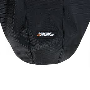 Moose Black/Red Ribbed Seat Cover  - 0821-1786