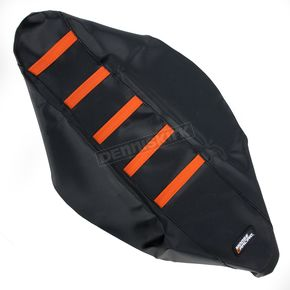 Moose Black/Orange Ribbed Seat Cover  - 0821-1792