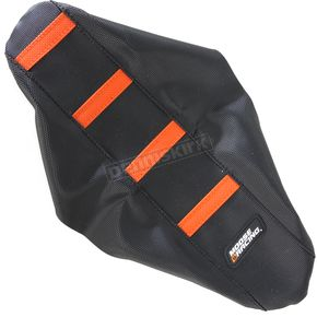 Moose Black/Orange Ribbed Seat Cover  - 0821-1794