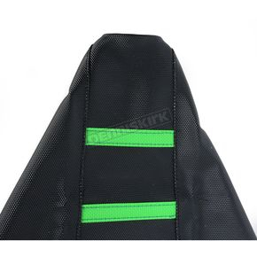 Moose Black/Green Ribbed Seat Cover  - 0821-1797