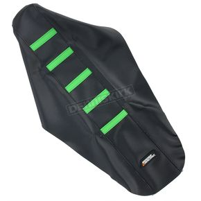 Moose Black/Green Ribbed Seat Cover  - 0821-1800