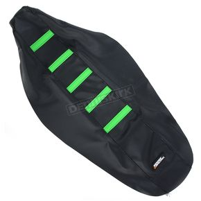 Moose Black/Green Ribbed Seat Cover  - 0821-1802