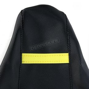 Moose Black/Yellow Ribbed Seat Cover  - 0821-1803