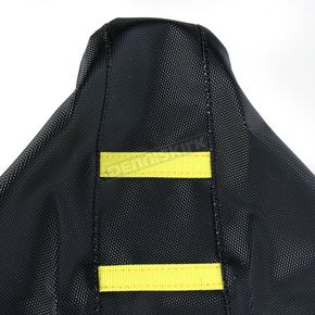 Moose Black/Yellow Ribbed Seat Cover  - 0821-1808