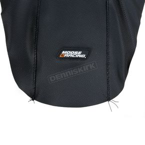 Moose Black/Blue Ribbed Seat Cover  - 0821-1809
