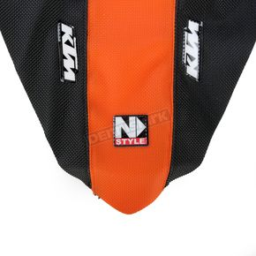N-Style Black/Orange 3-Panel Grip Seat Cover - N50-6063