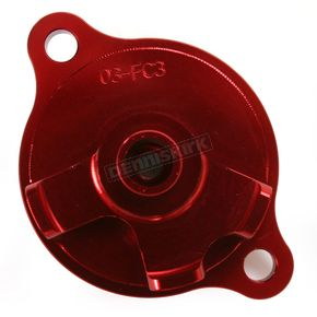 Powerstands Racing Red Magnetic Oil Filter Cover - 03-01982-24