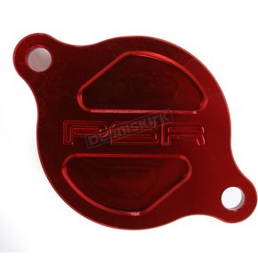 Powerstands Racing Red Magnetic Oil Filter Cover - 03-01983-24