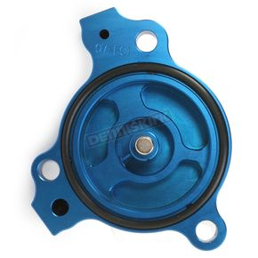 Powerstands Racing Blue Magnetic Oil Filter Cover - 07-01980-25
