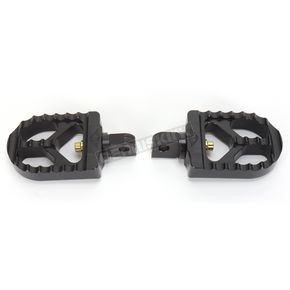 Hard Black Anodized Short Serrated Foot Pegs - 08-57-3B