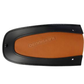 Drag Specialties Brown Faux Leather Fender Skin w/Black Trim - 1405-0205